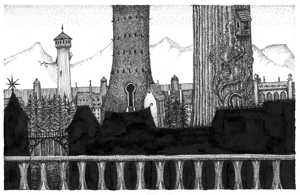 Projection Artwork for Gormenghast