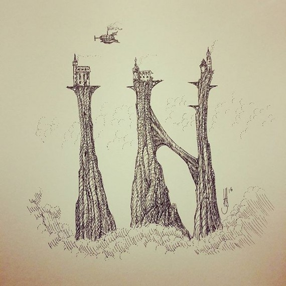A little subliminal messaging from the Cloudtop  Archipelago . Today's sketch. #penandink #penandinkdrawing #rotring #isograph #cloudtoparchipelago #voteremain #eureferendum #clouds #airship #steampunk #fantadyart