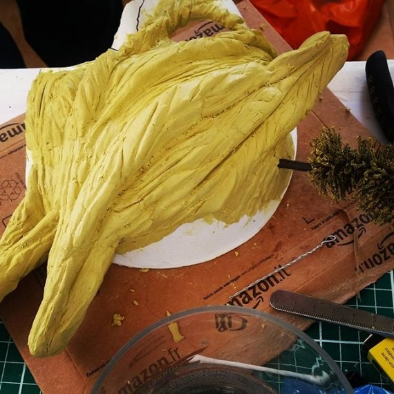 Sneak peak of work on a mask for the #masquerade , group exhibition at Corridor Gallery Brighton.  #cloudtoparchipelago #mask #sculpting #milliput #modelmaking #maskmaking #brighton #exhibition