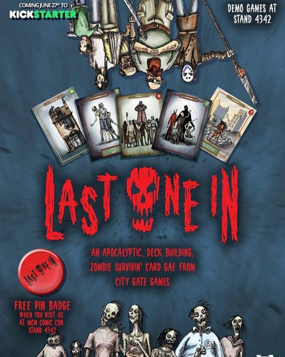 Been working on the this card game @lastonein_game with Mark Taylor. Kickstarter starts June 27th. Catch us at MCM Expo next weekend! #lastoneingame #zombies #survivalhorror #deckbuilding #cardgame #boardgames #walkingdead #dawnofthedead #dayofthedead #mcmexpo