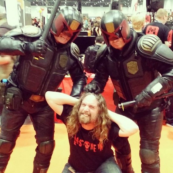 Fallen foul of the LAAAAW #dredd #mcmldn