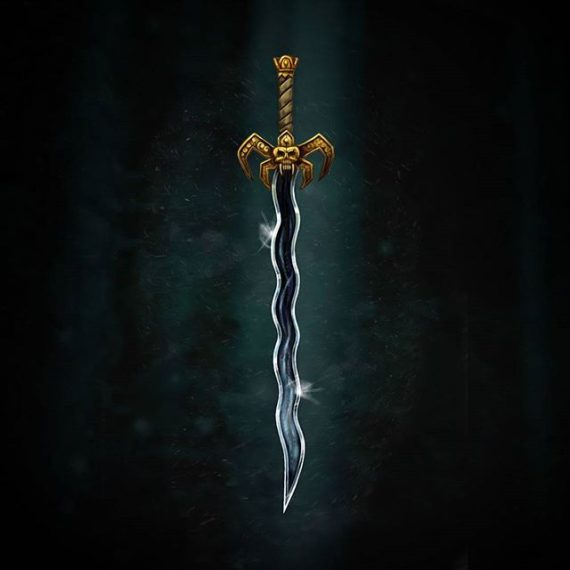 Soul Reaver Sword test digital painting.  Try-out for an tabletop RPG illustration job – wish me luck!. #rpg #photoshoppainting #cintiq #fantasyart #soulreaver #gameart #conceptart #sword #dungeonsanddragons #tabletop #boardgames