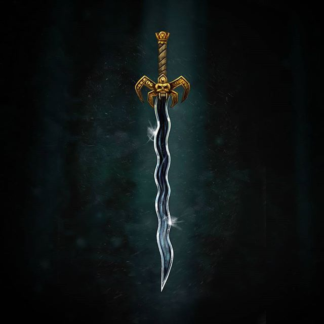 Soul Reaver Sword test digital painting.  Try-out for an tabletop RPG illustration job - wish me luck!. #rpg #photoshoppainting #cintiq #fantasyart #soulreaver #gameart #conceptart #sword #dungeonsanddragons #tabletop #boardgames