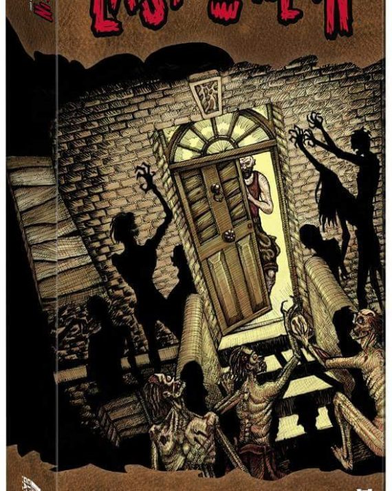 My box art for @lastonein_game coming to kickstarter tomorrow at 2pm GMT. https://tinyurl.com/yc5uzmfy #cardgame #zombies #zombieapocalypse #zombiesurvival #tabletop #boardgames #kickstarter #penandink #illsutration