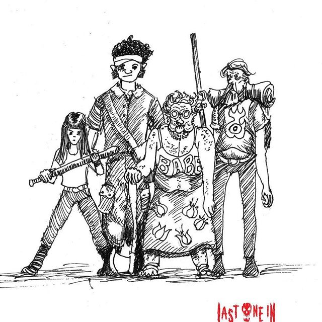More from the @lastonein_game  sketchbook. our card game. Now live on #kickstarter! https://tinyurl.com/y7actuzt #penandink #sketch #zombies #undead #cardgame #boardgame #tabletop #gamesnight #horrorart #zombieapocalypse #survivalhorror