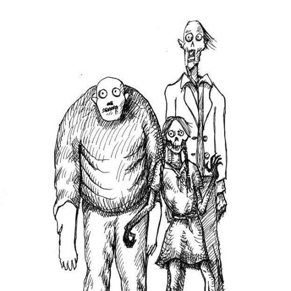 Sketchbook work for our Kickstarter card game, back it here!. https://tinyurl.com/y7actuzt #penandink #sketch #zombies #undead #cardgame #boardgame #tabletop #gamesnight #horrorart #zombieapocalypse #survivalhorror