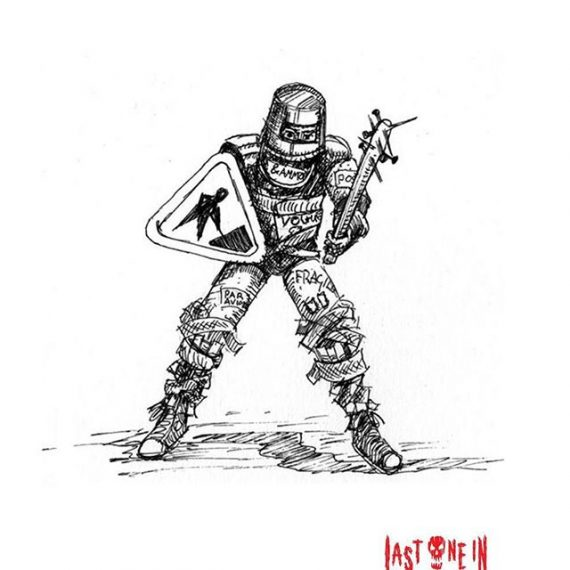 A Defender sketch for @lastonein_game . Back us on kickstarter:  https://tinyurl.com/y7actuzt #penandink #sketch #zombies #undead #cardgame #boardgame #tabletop #gamesnight #horrorart #zombieapocalypse #survivalhorror