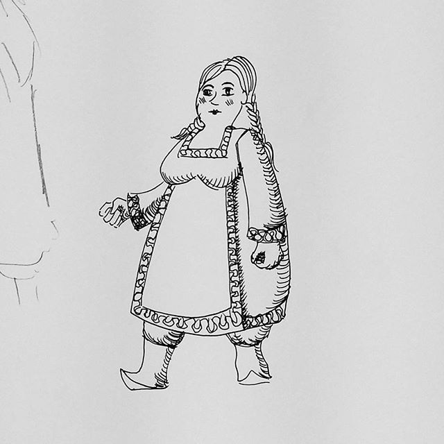 Messing around with simpler style for characters. #penandink #rotring #fineliner #fountainpen #carbonink #characterdesign #childrensbooks