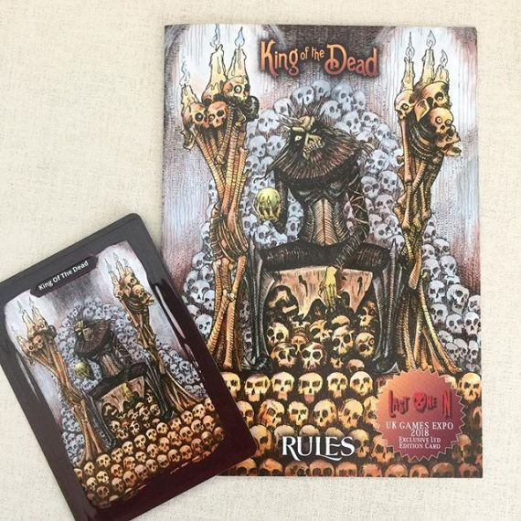 The special edition King Of The Dead cards and rules for @lastonein_game are here! (With my artwork) They will be given away to people who back the Kickstarter at @ukgamesexpo this weekend. #zombies #cardgame #boardgames #tabletop #fantasyart #zombieapocalypse #penandink #horror