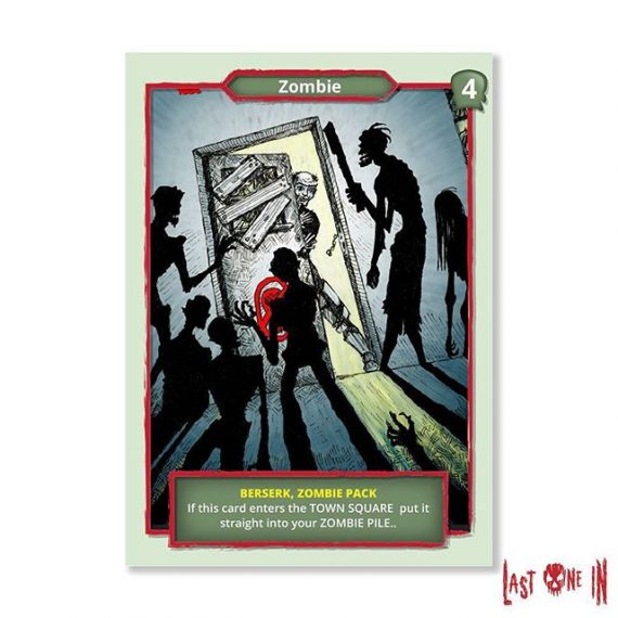 Knock knock! Play with this Berserk Zombie Pack card and many others by backing @lastonein_game on @kickstarter  https://tinyurl.com/yc3z9g45 #zombies #cardgame #zombieapocalypse #boardgame #tabletopgaming #gamingfun #tabletop #gameart