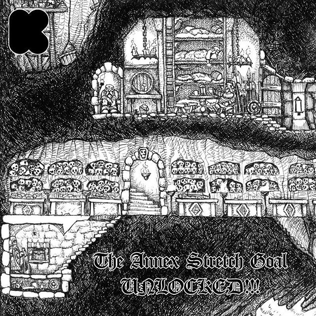 We reached the first stretch goal in the Dwarven Stonghold art print Kickstarter. So everyone will get a second print featuring new rooms! https://www.kickstarter.com/projects/930752437/the-dwarven-stronghold-art-print-and-poster #dwarves #rpg #fantasyart #penandink #dungeonsanddragons #oldhammer #warhammer #tabletopgaming