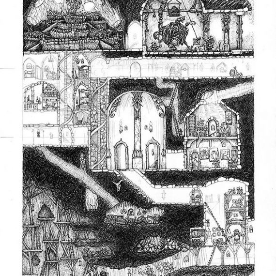 Just 5 hours left to back the Dwarven Stronghold Kickstarter. Here is a WIP of the stretch goal picture. Finished pic will be Free to all backers at Print and Poster level! http://kck.st/2MjmWvF #penandink #artprint #fantasyart #rpg #tabletop #oldhammer #warhammer #Tolkein #fineliner #rotring #dwarves #gnomes