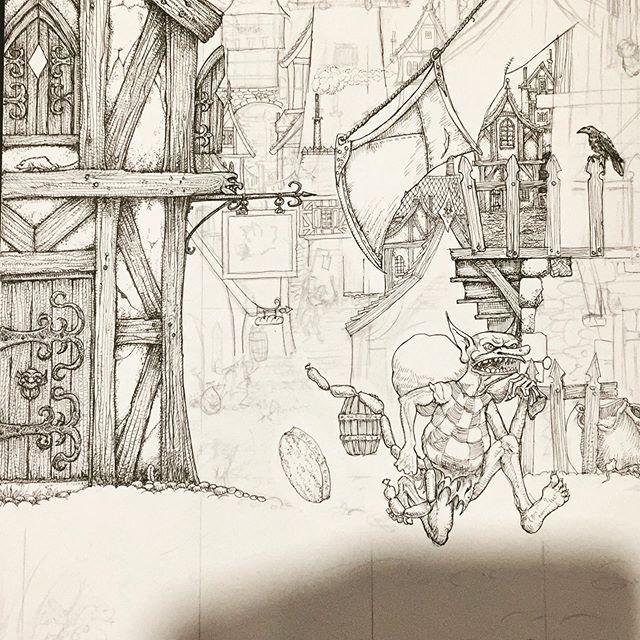 Work in progress. #penandink #fantasyart #goblins #dungeonsanddragons #warhammer #boardgames #tabletop