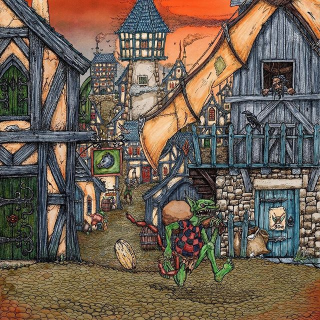 Here's a taste of the art for a board game about goblins which I'm illustrating. #goblins #oldhammer #boardgames #fantasyart #dungeonsanddragons #tabletopgames